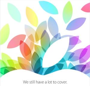Apple evenement 22 oktober 2013