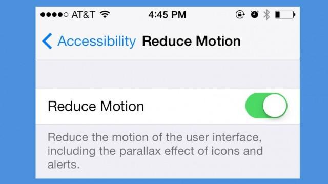 Reduce Motion