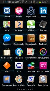 App drawer GEL