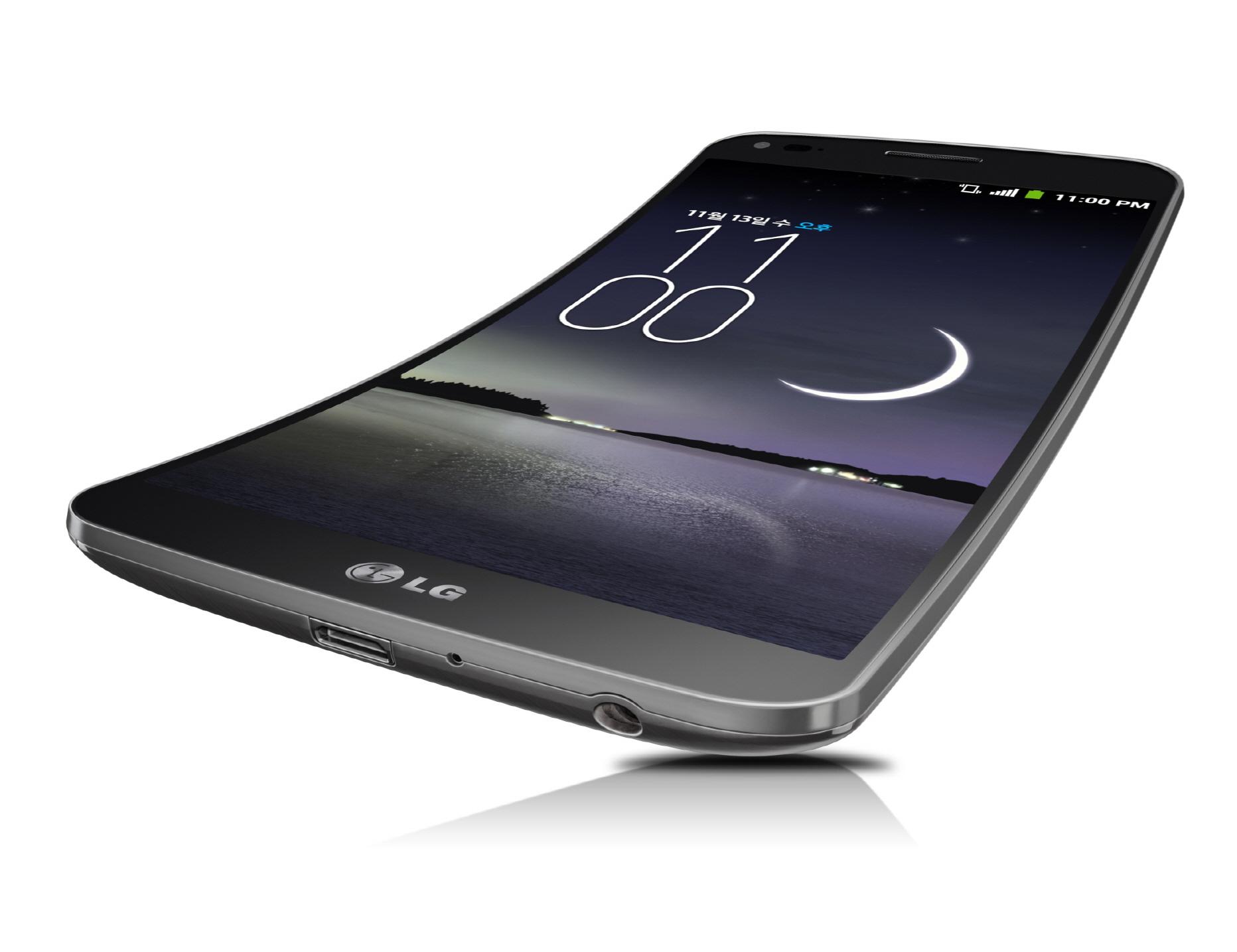 LG G Flex angled