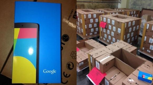Nexus 5 klaar voor transport