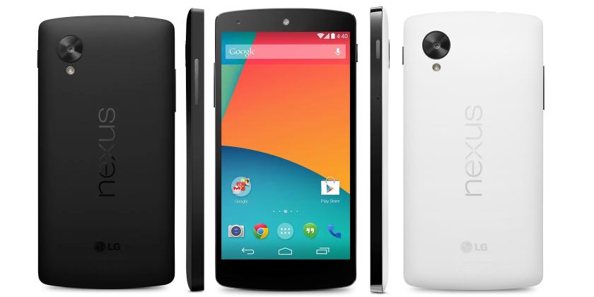 Nexus 5 zwart & wit