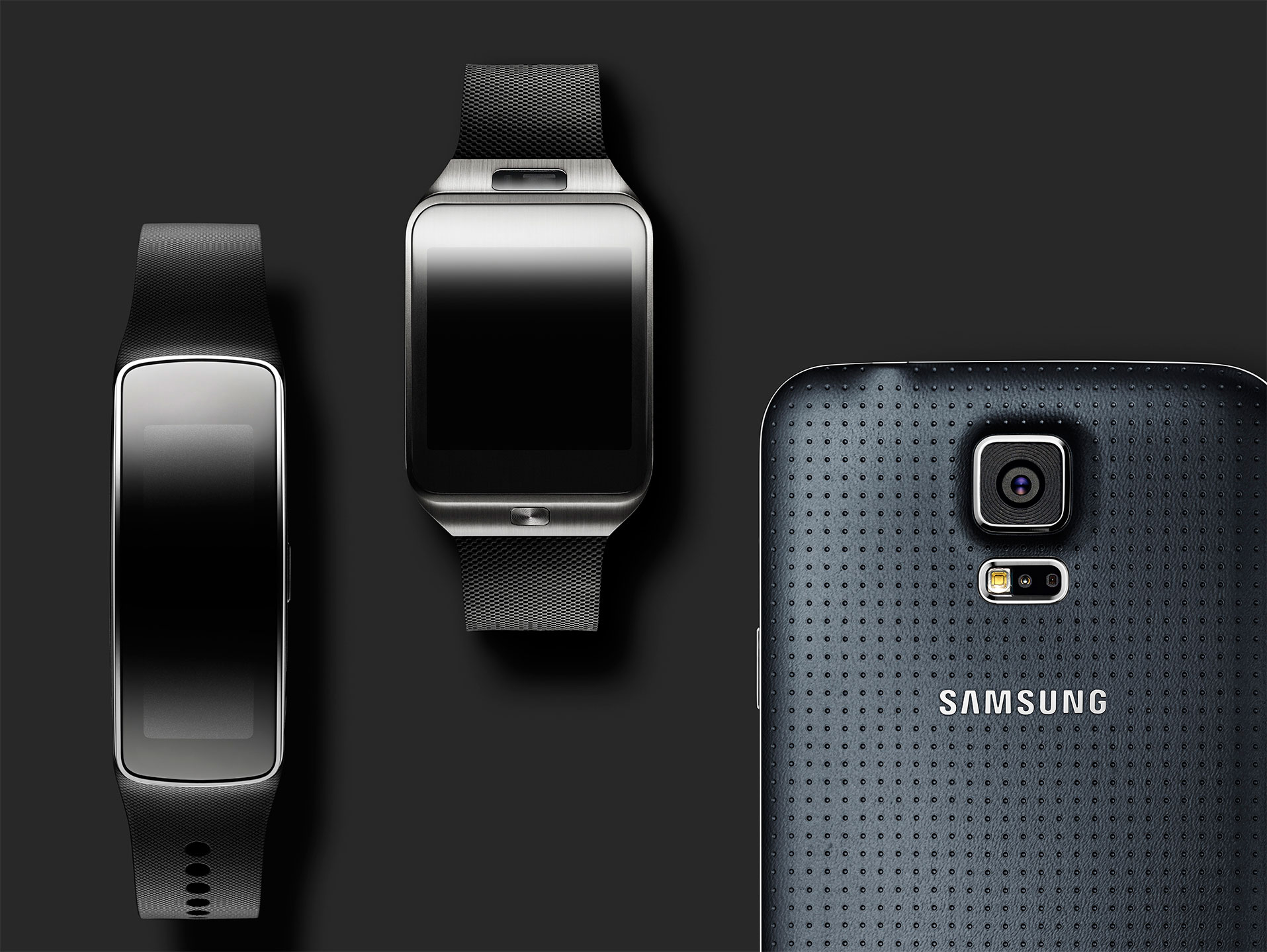 Glam Gear Fit, Gear 2 & Galaxy S5 Zwart