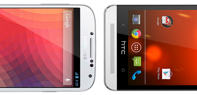 Google Play Edition  S4 en HTC One