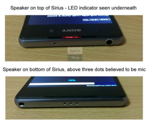 Xperia Z2 stereo speakers en LED